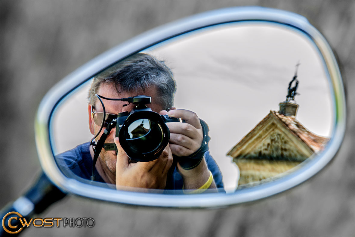 Wolfgang Stocker photographing with Nikon