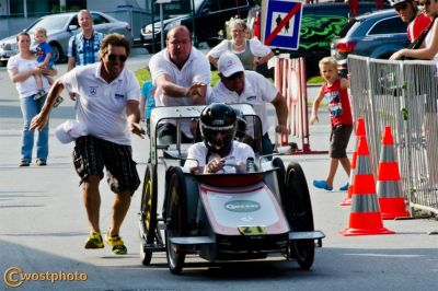 Soap box race in Werfen in the Salzburg District Pongau.