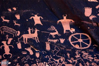 "Petroglyphs on the ""Newspaper Rock"""