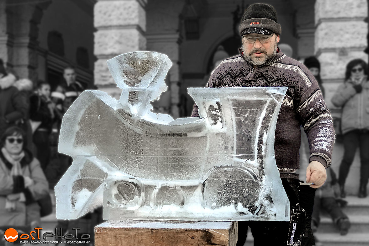 Snow sculpture in Pontebba/Italy